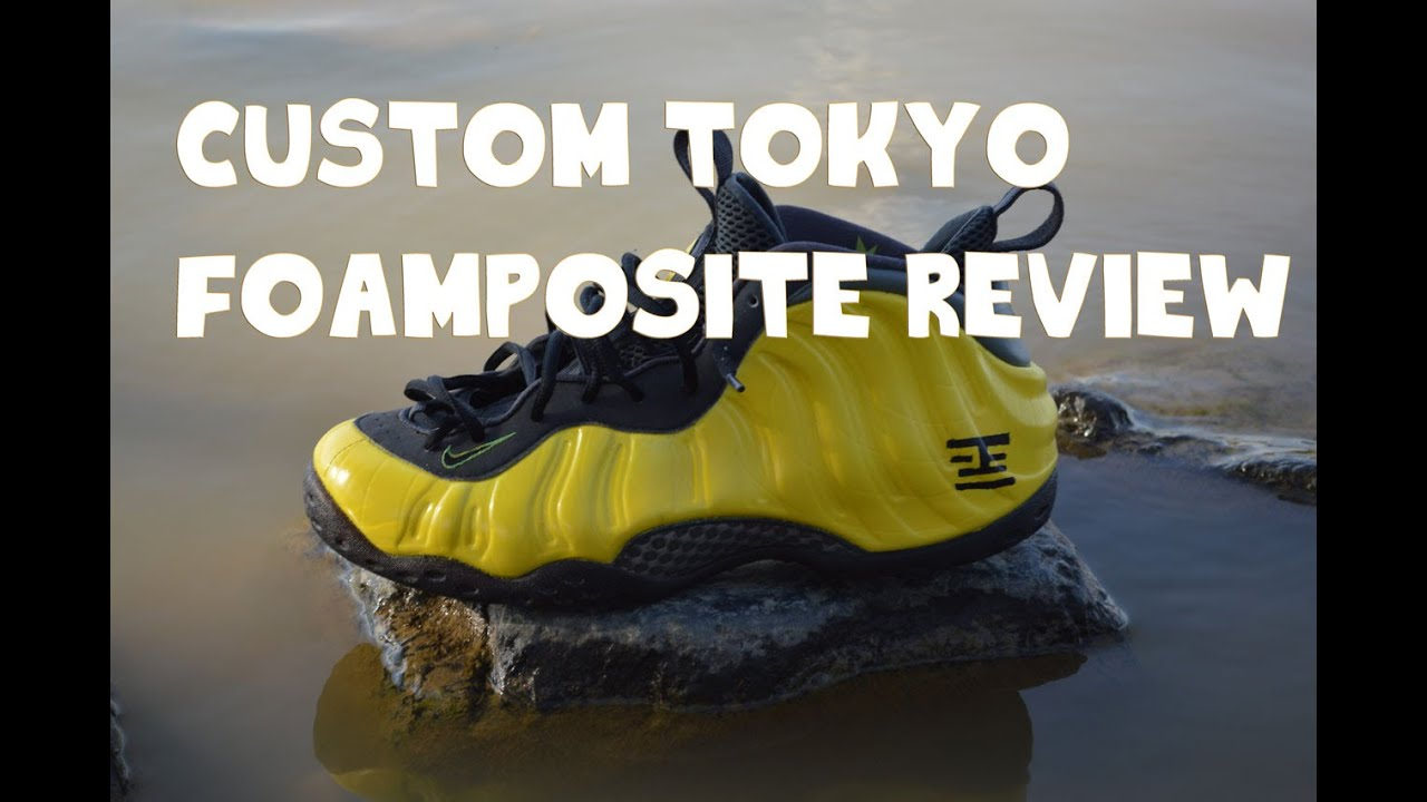 84c021c4cce CUSTOM TOKYO FOAMPOSITE REVIEW+ON FEET (ANGELUS PAINT USED) - YouTube
