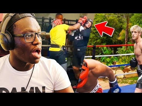 REACTING TO KSI AND LOGAN PAUL KNOCK OUT FOOTAGE