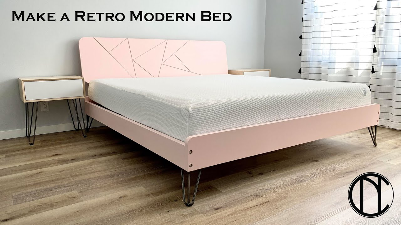 how to build a mid century inspired retro modern bed frame