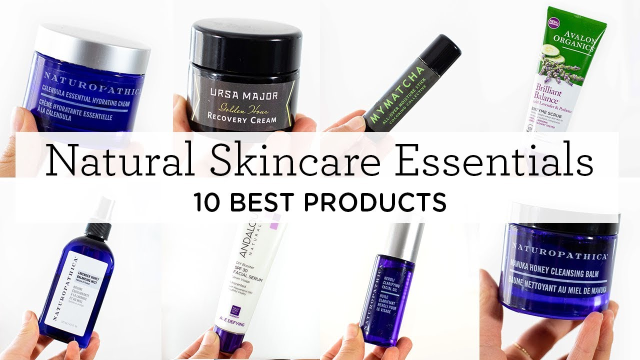 10 NATURAL SKINCARE ESSENTIALS ‣‣ daily + nightly skincare routine