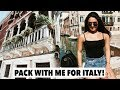 PACK WITH ME FOR ITALY | Venice, Florence & Rome