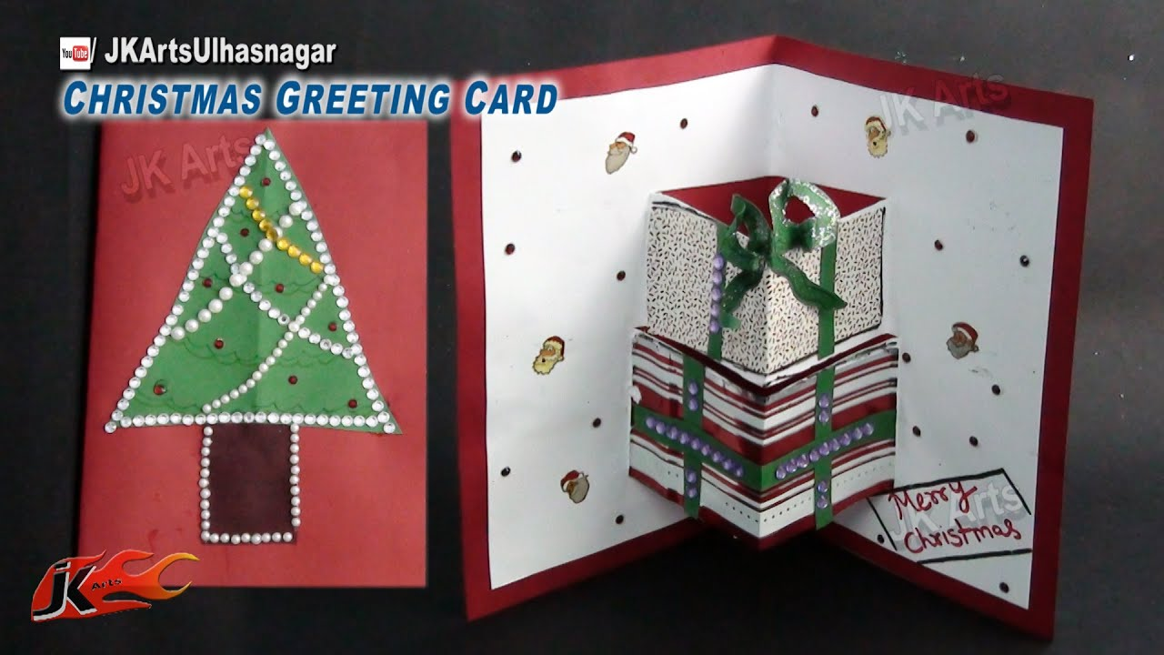 Ideas To Make Christmas Cards Part - 49: How To Make Christmas Pop Up Card | School Project For Kids | JK Arts 783 -  YouTube