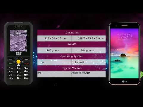 CAT B30 vs LG K10 2017 - Phone comparison