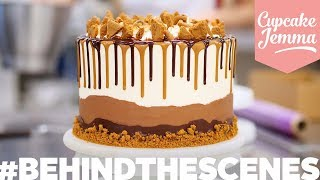 Behind the Scenes at C&D | EPIC S'MORES CAKE | Cupcake Jemma