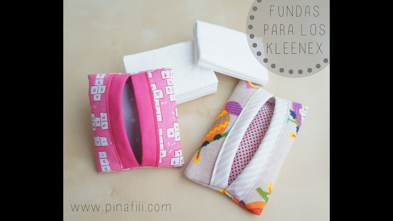 Pinafili tutorial para hacer funda para guardar los kleenex o pa uelos de papel youtube - Fundas de plastico para tarjetas ...