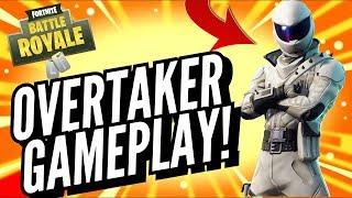 OVERTAKER Skin Gameplay! In Fortnite Battle Royale..