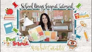Layout Giveaway! - School Days Themed Scrapbook Layout DIY Tutorial with my Paper Pack Die Cuts SVG