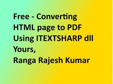Converting html to pdf using itextsharp in ASP.NET with C#.NET