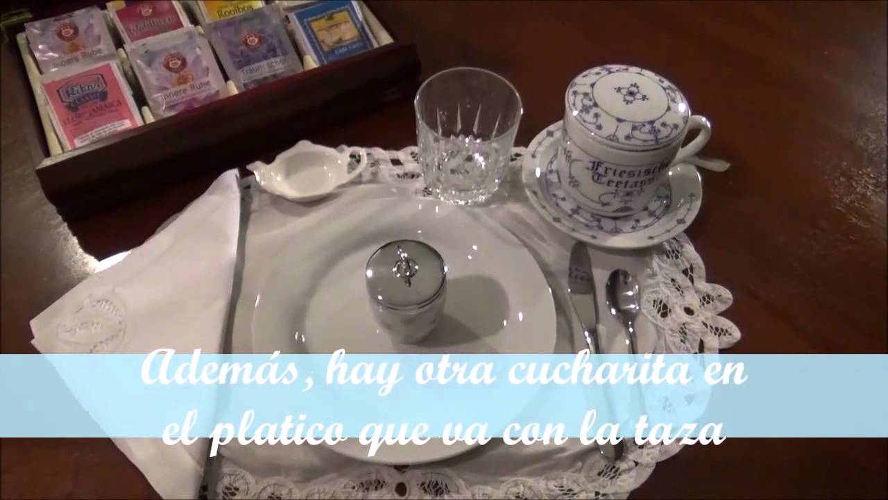 Como colocar la mesa para el desayuno youtube for Como poner una mesa bonita