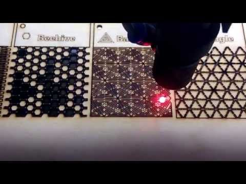 50W Chinese Laser - Live Hinge test pieces
