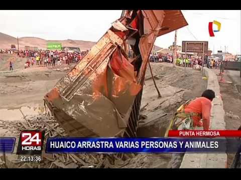Punta Hermosa: huaico arrastra varias personas y animales