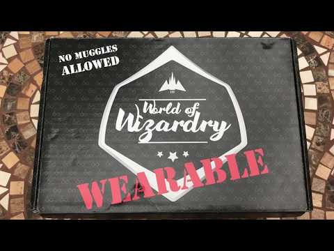 Harry Potter World of Wizardry WEARABLE Subscription Box Unboxing June 2017