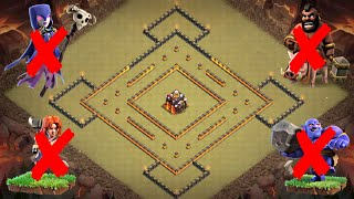 New Best Th10 War Base Layout 2019   Defense against Th11 Queen Walk + Bowlers + Miners   CoC