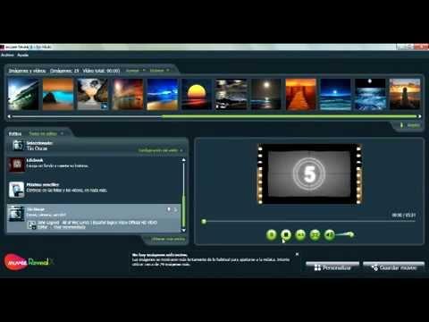 Tutorial b sico espa ol de muvee reveal x 9 youtube for Programmi per design gratis