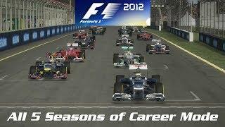 F1 2012 - All 5 Seasons of Career Mode