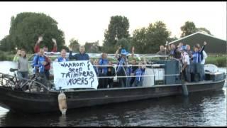 Trimmers protesteren tijdens ronde van Nes aan de Amstel - RTV Amstelveen