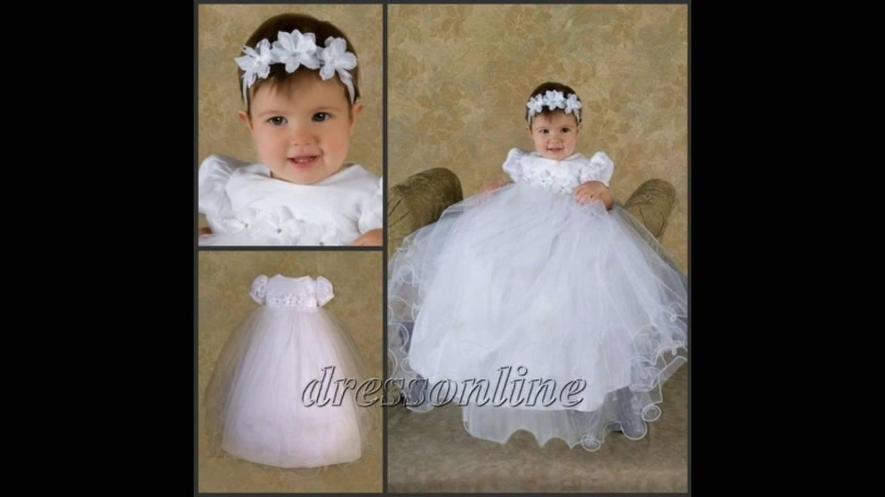 8d3a6e3bab Modelos de vestidos de bautismo - YouTube