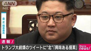 トランプ大統領のツイートに北朝鮮「興味ある提案」(19/06/29)