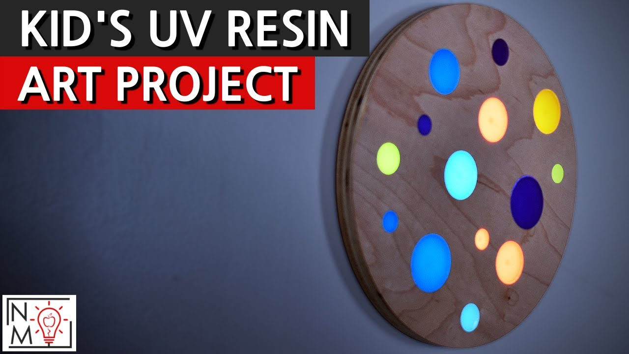 UV Resin Art Project - Coloring Epoxy to Make Cool Artwork