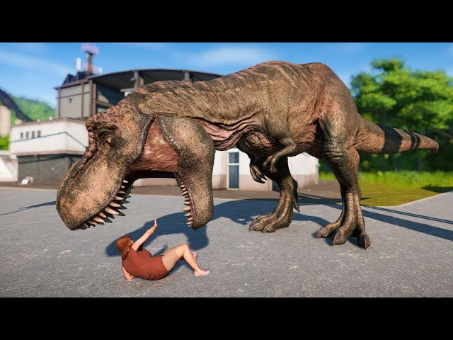 T-REX & Majungasaurus Breakout! Jurassic World Evolution