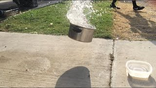 Blaine put an M80 in a pail of water (Slow Motion)