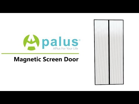 Apalus Magnet Fliegengitter Tür | Installations Video (Deutsch) | Amazon Bestseller