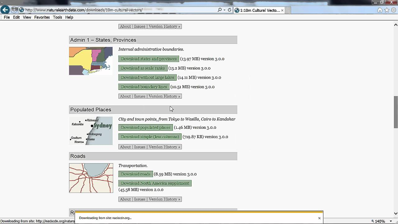 Download Natural Earth Data and Preview in ArcGIS Pro
