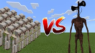 1000 Iron Golems vs Siren Head  Minecraft