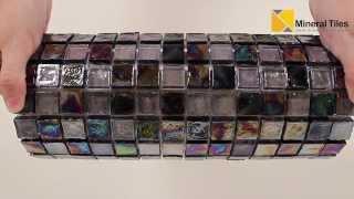 Iridescent Glass Mosaic Tile Black Blend 1x1 - 120KELU11BL3