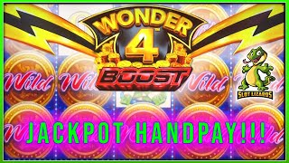 Wonder 4 Boost Jackpot Handpay! Last Bet Bonus Epic Run to $2200!! Buffalo & Wild Americoins!