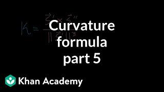 Curvature formula, part 5