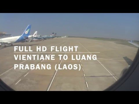 Full HD Flight Vientiane to Luang Prabang---Business Class Seat---Lao Airlines