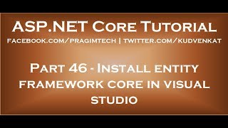 Install entity framework core in visual studio