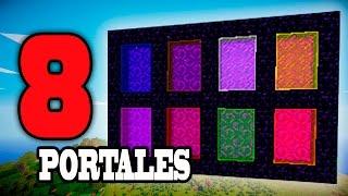 MINECRAFT 8 PORTALES