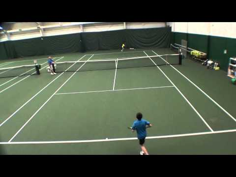 Andrei, 12 years old, playing beautiful tennis at a U14 tournament