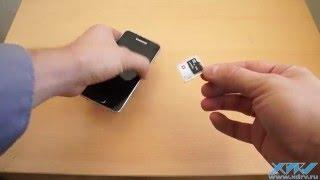 Як вставити SIM-карту в Samsung Galaxy A3 (2016) (XDRV.RU)