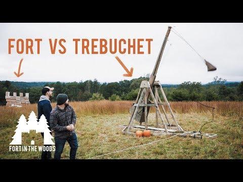 huge-backyard-diy-trebuchet-project---test-fire---destroy-fort---fort-in-the-woods