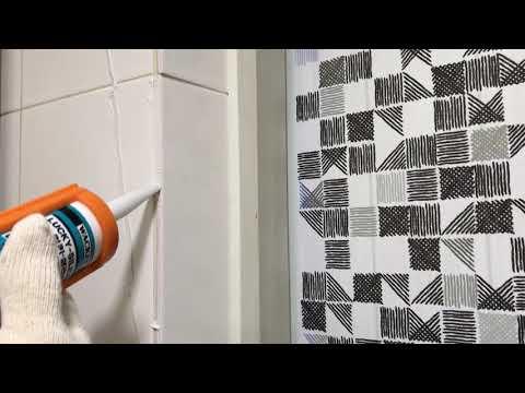 금 간 타일 보수작업 (tile maintenance work )