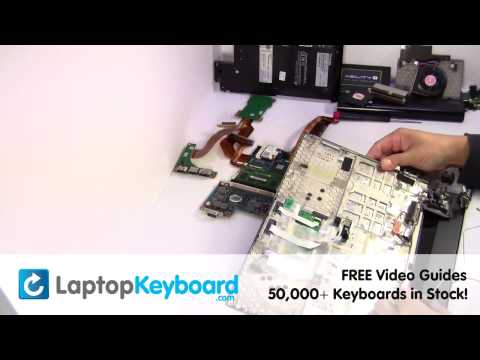 Toshiba Portege R835 Keyboard Installation Replacement Guide - Laptop Remove Replace Install
