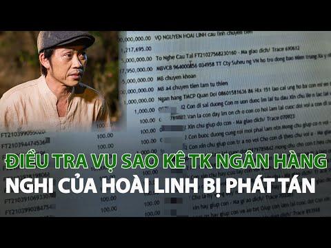 Điều tra vụ sao kê TK Ngân hàng nghi của Hoài Linh bị phát tán| VTC14 - YouTube