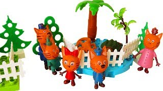 Три кота игрушки. Три кота в зоопарке. Мультик с игрушками три кота. #животные #зоопарк #трикота