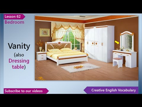 Learn English English Vocabulary Lesson 62 Bedroom Free English