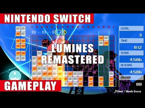 Lumines Remastered Nintendo Switch Gameplay