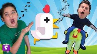 Let s Play Chicken Scream Video Game App with HobbyKidsTV