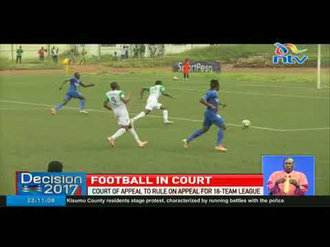 Court of appeal to rule on appeal for 18-Team league