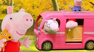 Peppa Pig auf Deutsch. Die Spielzeuge putzen das neue Haus.