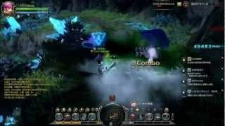 Dragon Nest: Level 55 Saleana/Pyromancer Solo Gameplay - Center of Meteorite Fall (Abyss mode)