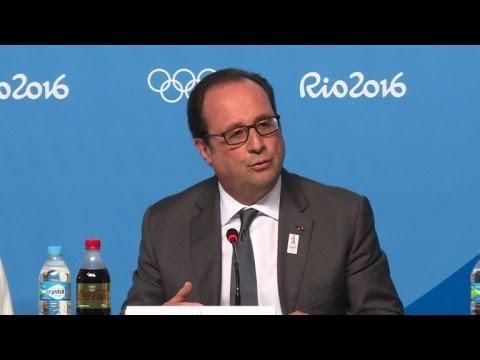 Hollande defends France's security during Paris Olympics bid