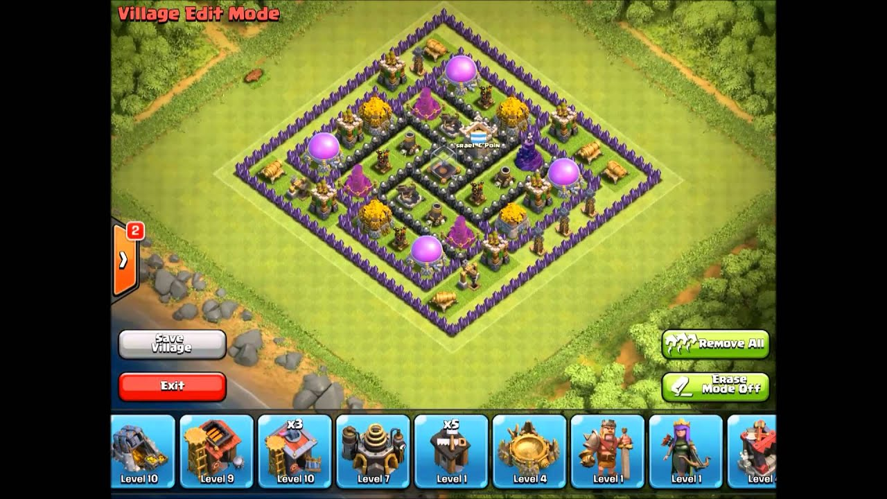 Clash of clans th9 farming base best youtube