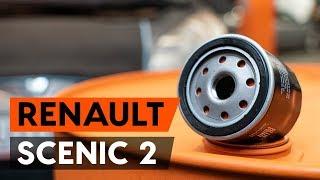 Como substituir a filtro de óleo e óleo do motor no RENAULT SCENIC 2 (JM) [TUTORIAL AUTODOC]